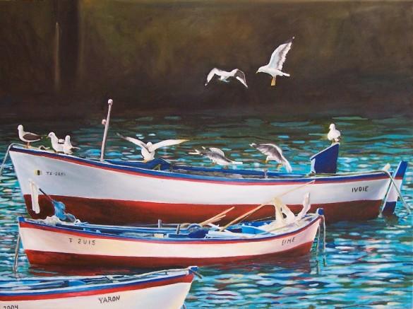 Barcos y Gaviotas